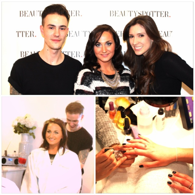 Me with the gorgeous Gemma Bellman (CEO of BS) and Ross McLaughlan (celeb hairstylist at Jones & Payne)